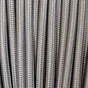 Textilkabel 3x0,75mm² silber