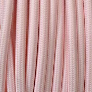 Textilkabel 3x0,75mm² rosa