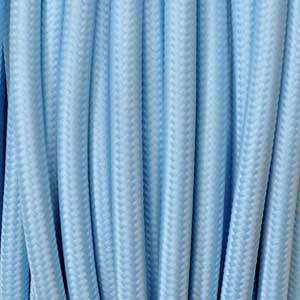 Textilkabel 2x0,75mm² hellblau