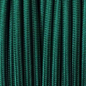 Textile cable 2x0,75mm² petroleum