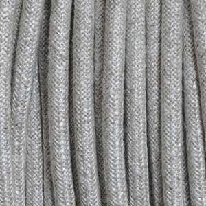 Textile cavo 3x0,75mm² tela beige