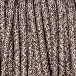 Textilkabel 3x0,75mm² Leinen braun