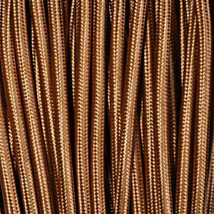 Textile cable 2x0,75mm² whiskey