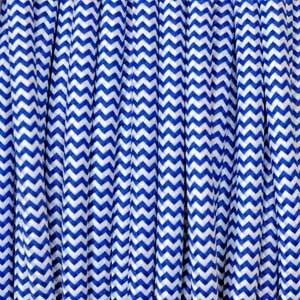Cavo tessile 2x0,75mm² bianco / blu