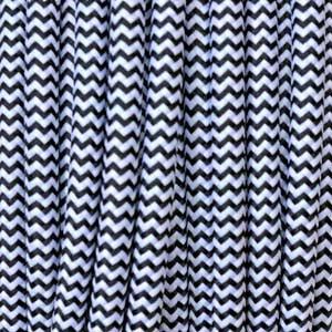 Textilkabel 2x0,75mm² weiss/schwarz