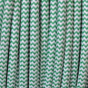 Cable textil 2x0,75mm² blanco / verde