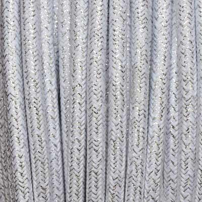 Textilkabel 3x0,75mm² lamè weiss
