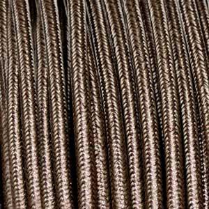 Textilkabel 3x0,75mm² lamè braun