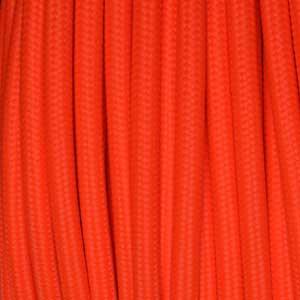Textilkabel 2x0,75mm² fluoreszierend orange