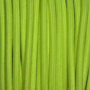 Textilkabel 2x0,75mm² fluoreszierend gelb