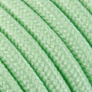 Textilkabel 3x0,75mm² Baumwolle minze