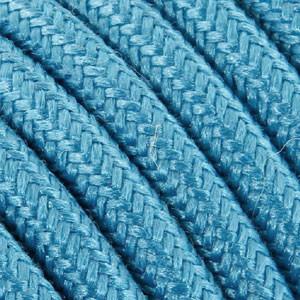 Textilkabel 3x0,75mm² Baumwolle türkis