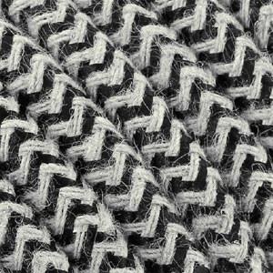 Câble coton 3x0,75mm² Textile noir/blanc