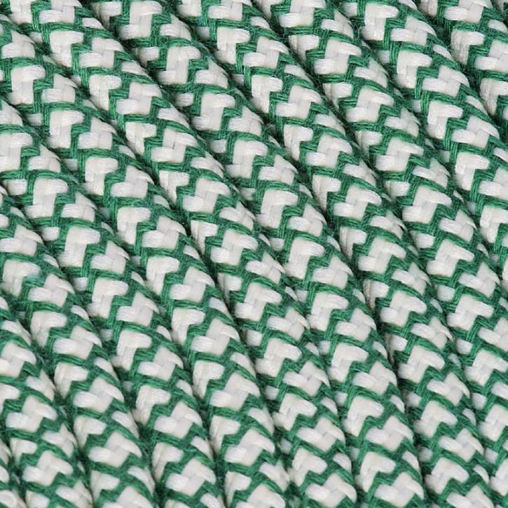 Textilkabel 3x0,75mm² Baumwolle petroleum/creme