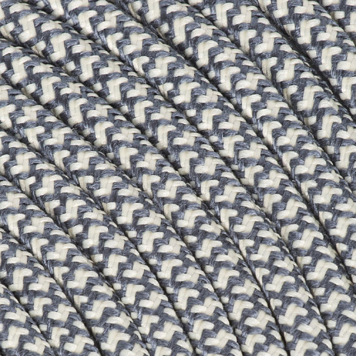 Câble textile 3x0,75mm² coton graphite / crème