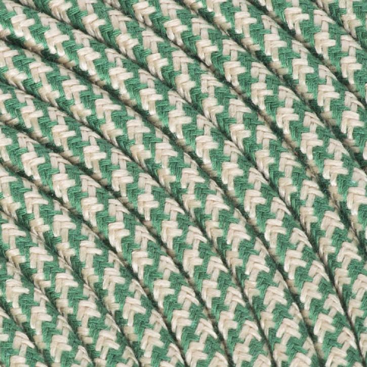 Textilkabel 3x0,75mm² Baumwolle sand / grün