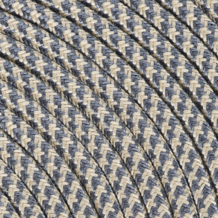 Textile cable 3x0,75mm² cotton sand / graphite