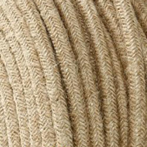 Textilkabel 3x0,75mm² Jute natur