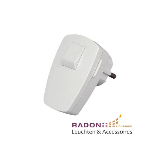 Kopp - Kunststoff-Schutzkontakt-Stecker weiß