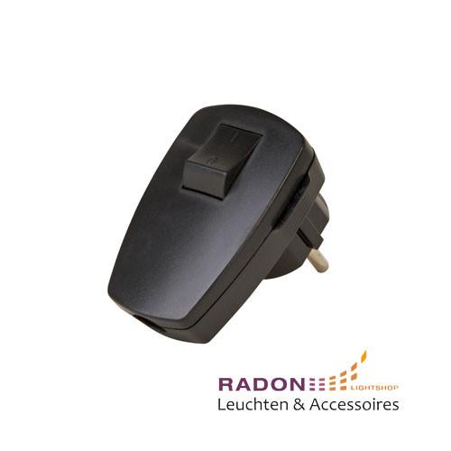 Kopp - Kunststoff-Schutzkontakt-Stecker schwarz