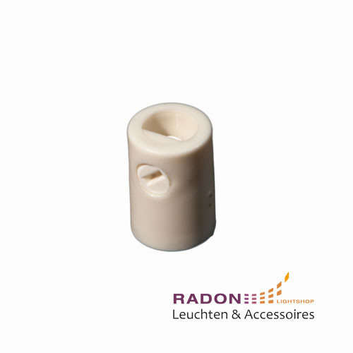 Strain relief with internal thread for M10x1, white