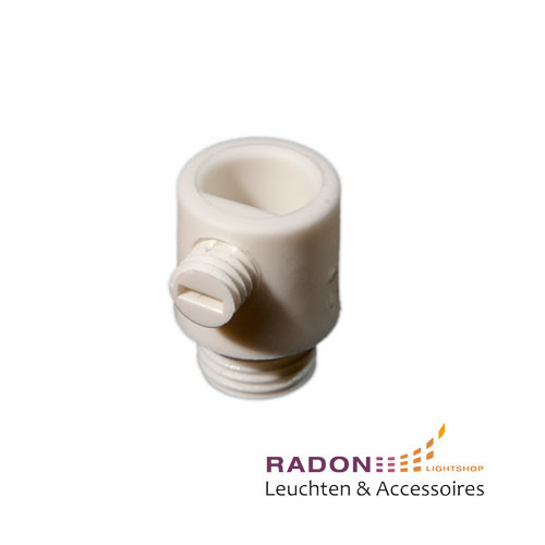 Strain relief with external thread for M10x1, white