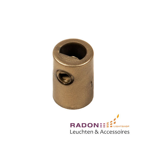 Strain relief with internal thread for M10x1, gold