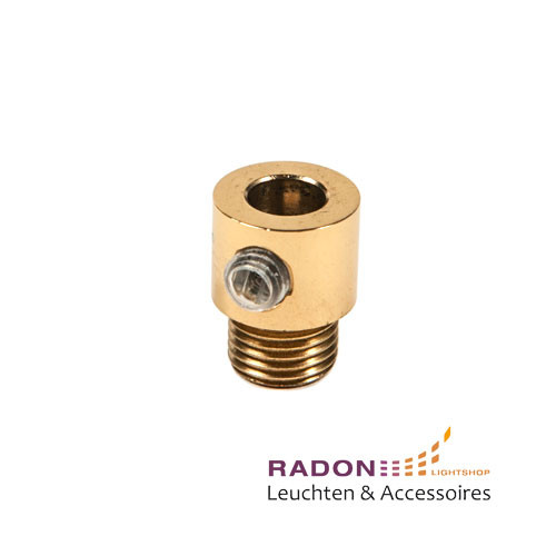 Male thread M10x1 cable clamp polished brass