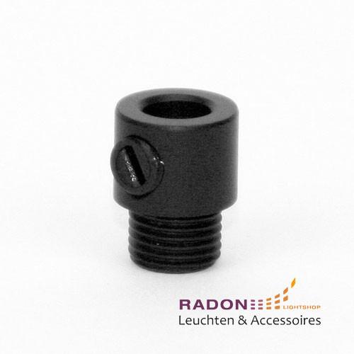 Colar relieve con rosca externa para M10x1, negro