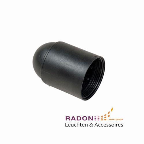 Kunststoff Lampenfassung E27 - schwarz, glatt