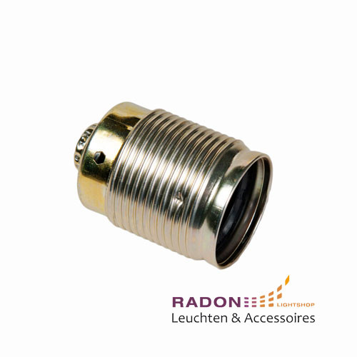 E27 metal threaded barrel - gold