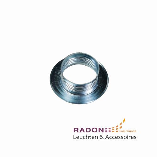 Überwurfmutter für Gewindemantel-Fassung E14 Metall - silber
