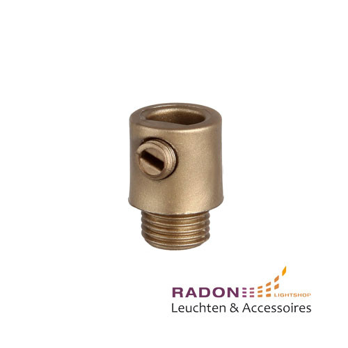 Strain relief with external thread for M10x1, gold
