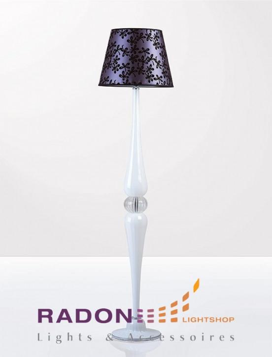 Lámpara de pie de cristal de Murano