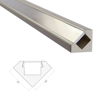 LED Stripes Profile - 45 ° - 19 x 19 mm - clear