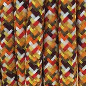 Textilkabel 3x0,75mm² Pixel-Orange