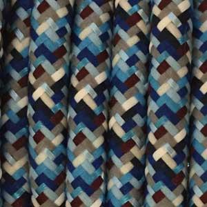 Textilkabel 3x0,75mm² Pixel-Türkis