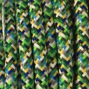 Textilkabel 3x0,75mm² Pixel-Grün
