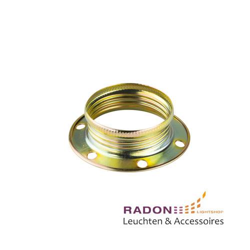 Überwurfmutter für Gewindemantel-Fassung E14 Metall - gold