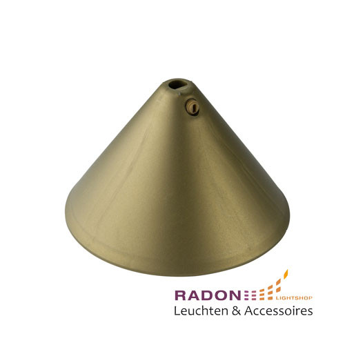 Polypropylene canopy in gold cone shape