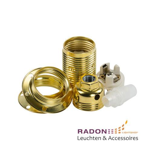 Portalámparas de metal E14 dorado
