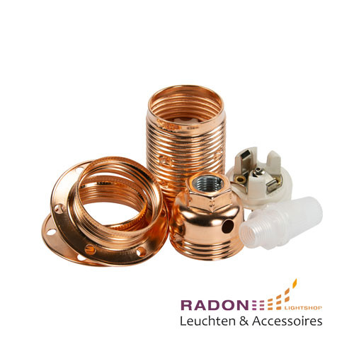 Portalámparas de metal E14 cobre
