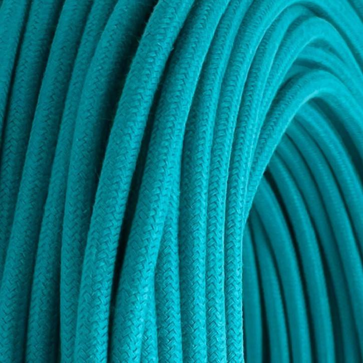 Textilkabel 3x0,75mm² Ocean Blue 3-adrig