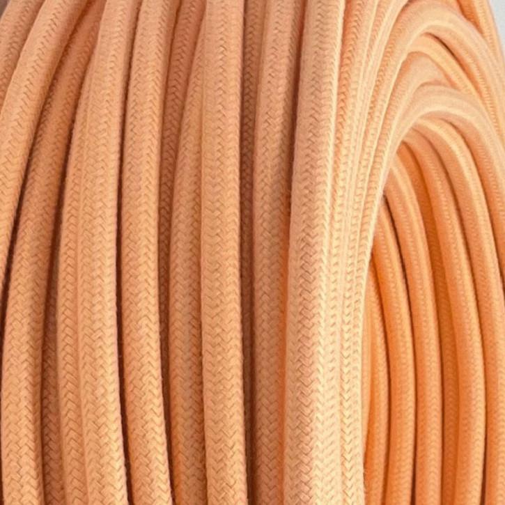 Textilkabel 3x0,75mm² Peach Puff 3-adrig