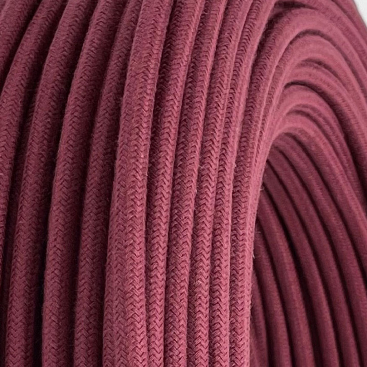 Textilkabel 3x0,75mm² Dark Margenta 3-adrig