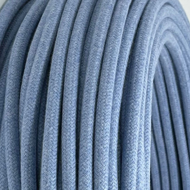 Textilkabel Light Sky Blue
