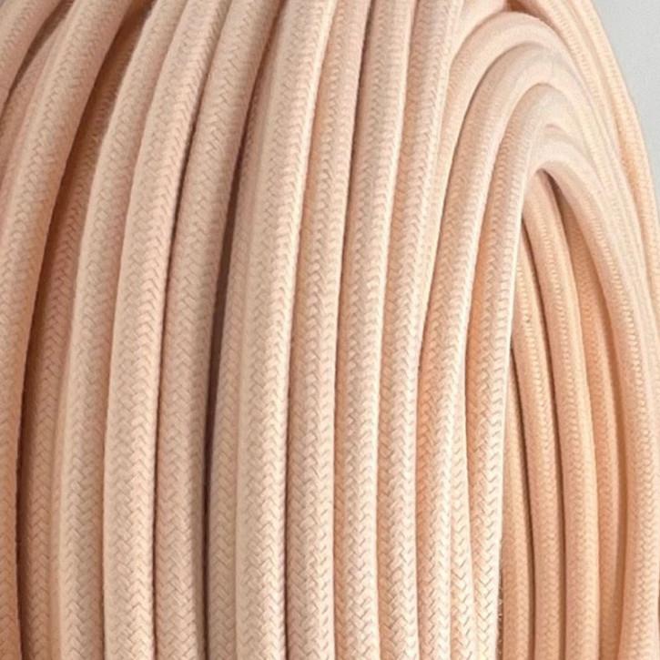 Textilkabel 3x0,75mm² Bisque 3-adrig
