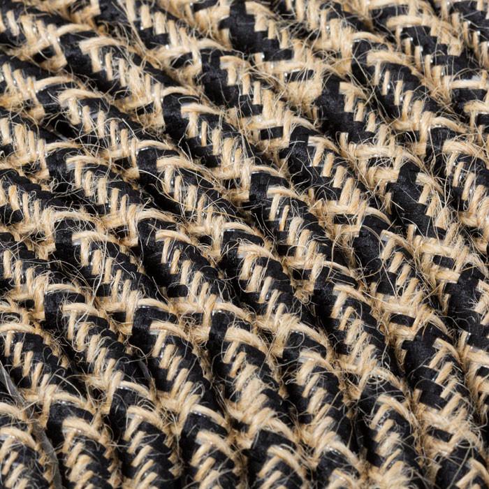 Textilkabel 3x0,75mm² Jute natur / Stoff schwarz