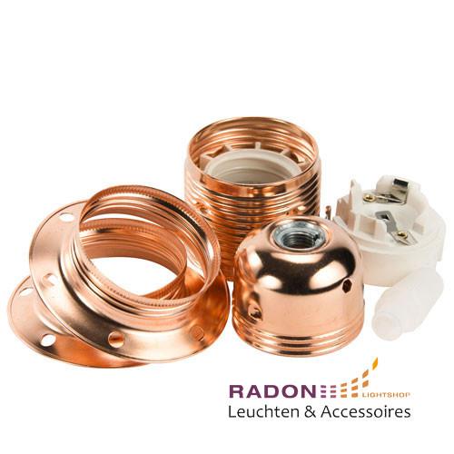 Metall Lampenfassung E27 Kupfer