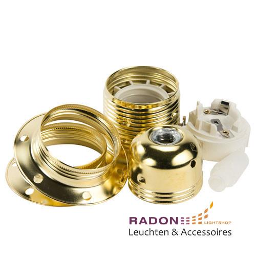 Portalampada in metallo E27 oro